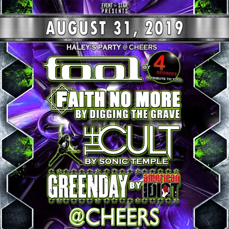 The Cult / Faith No More / Tool / Greenday / Tribute Bands in