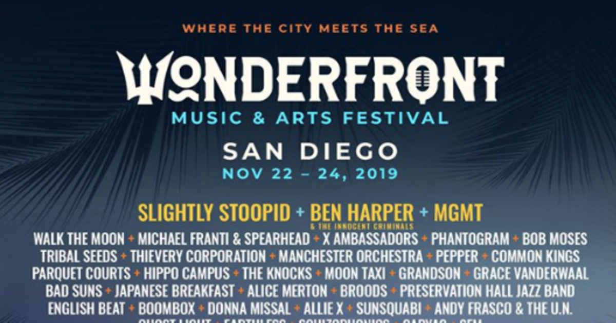 February 2020 Calendar Tribal Seeds Wonderfront Festival in San Diego at San Diego